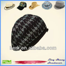 LSC36 Ningbo Lingshang winter accept Custom Made 100% Cotton beanie hat