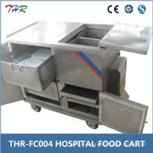 Carrito de la comida del hospital del acero inoxidable (THR-FC004)