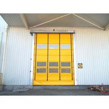 Porte empilable à grande vitesse de PVC coupe-vent d'alliage d'aluminium