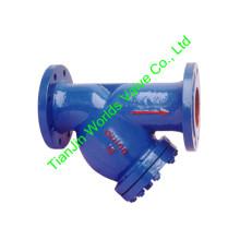 Filtro de tipo flangeado do ferro fundido da extremidade Y para a água (GL41-10 / 16)