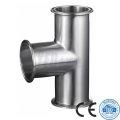Sanitary Pipe Fittings 304 316L Stainless Steel Equal Tee
