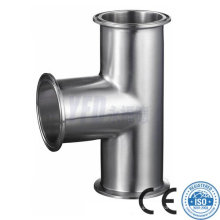 Sanitary Pipe Fittings 304 316L Stainless Steel Equal Tee