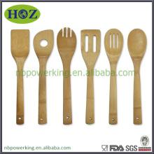 Eco-friendly 100% natural bamboo kitchen utensils