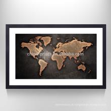 Arte do mapa do design moderno na cópia decorativa do mapa da lona das canvas para a decoração de suspensão de parede