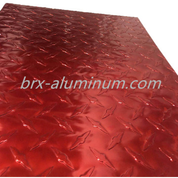 Red Compass Pattern Anodized Aluminum Plate