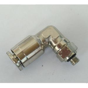 Air-Fluid Nickel-Plated Swivel Elbow Push in Fittings