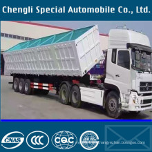 3axles Tipping Semitrailer 60tons Dump Trailer