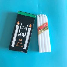 White Household Stick Candle for North Africa