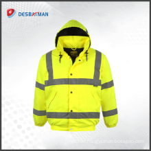 Hi Vis Yellow Two Tone Soft Shell Jacket Workwear High Vis Coat