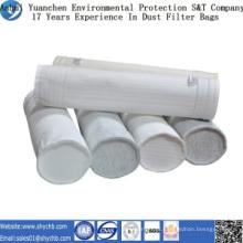 Saco de filtro não tecido do poliéster do coletor de poeira para a planta do asfalto da mistura
