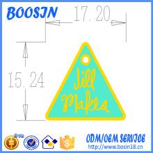 Encanto de logotipo de forma de triángulo personalizado para joyería