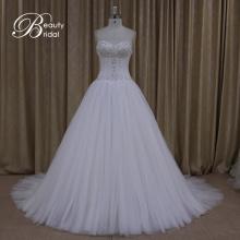Ak005 belle robes de photos de haute qualité de dentelle mariée mariage robe 2016