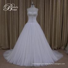 Brautkleider Crystal Bow Sash Lace Bridal eine Linie Kleid