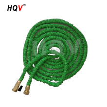 Anti-abrasion green garden hose with brass fitting