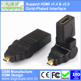 Gold-Plated HDMI Female to Micro HDMI Male Adapter Converter (360 Rotating v1.4 & v2.0 3D) For Tablet HDTV