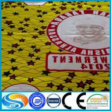 Fábrica de cera de suministro de tela de alta calidad de África a la orden