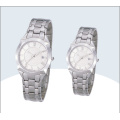 New Style Fashion Cheap Stainless Steel Couple Wrist Watches for Couples