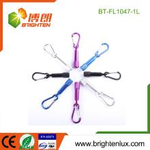 Factory Wholesale Custom multicolore en promotion en aluminium de poche Kids Mini 1 led Metal Keychain avec Carabiner Clip Light