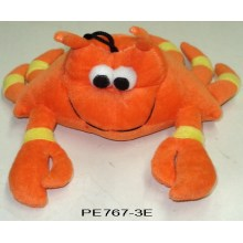 Yellow crab dog toys