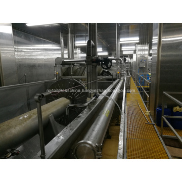 Poultry processing equipment screw chiller