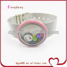 Bracelet magnétique populaire médaillon flottant / bijoux magnétiques