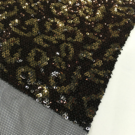 Neueste Geometrie Design Multicolor Sequin Stickerei Stoff