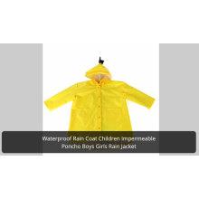 Cheap PVC girls logo girls transparent rainwear for children school bag poncho boys disposable rain coat EVA raincoats for kids
