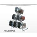 Bouteille de verre manuelle avec broyeur de sel / broyeur de sel / broyeur d'épices / broyeur de poivre / moulin à poivre