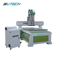 Three Processes Multi Head CNC Wood Router Machinery