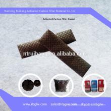 material de remoção de odor de filtro de material de malha de filtro de carvão ativado
