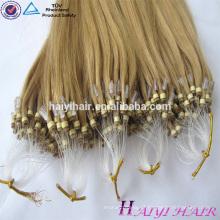 Cabelo humano do Virgin de Remy da fábrica 20 extensões malaias do cabelo humano do grânulo da polegada micro