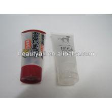 Branco flip top cap metal cosméticos embalagem tubos