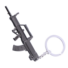Personalized Keychains Metal Key chains Gun Shape