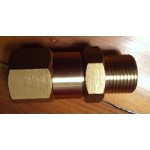 Articulação de bronze giratória de alta pressão (macho de 3/8 pol.)