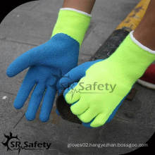 SRSAFETY 7G Acrylic Nappy Knitted latex palm coated safety glove