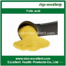 Высококачественная фолиевая кислота Витамин B9 CAS 59-30-3