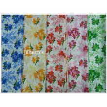 Tissu imprimé de pongé / tissu de literie de couverture de polyester