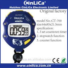CT-700 Radio Kalorien-Pedometer Uhr Stoppuhr, blaue Stoppuhr