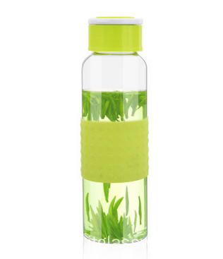 Carrying Loops Glass water Bottle