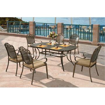 Muebles de exterior de alta calidad Muebles de patio de aluminio fundido