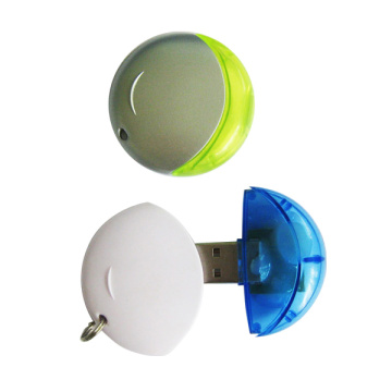 Plastic Round Full Capacity USB Flash Drive