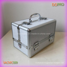 White PVC Material Private Label Crystal Effect Bling Makeup Case (SACMC009)