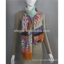 Modal Leopard imprimió bufanda larga larga de la señora
