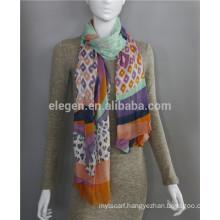 Modal Leopard printed lady Long big scarf