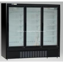 Витрина морозильной камеры с вертикальной стеклянной дверцей для мороженого