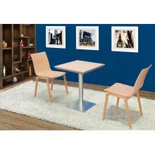 Coffee Shop 600X600mm Custom Wood Table (FOH-BCA86)