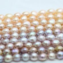 10-11mm de calidad superior multicolor barroco biwa perla de agua dulce (e190038)