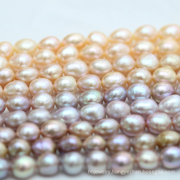 10-11mm Top Quality Multi Color Baroque Biwa Freshwater Pearl (E190038)