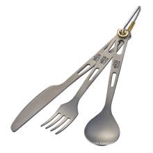 Titanium Cutlery Set Spoon Fork Knife