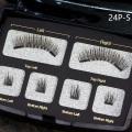 Magnetic eyelashes BLACK four magnet in acrylic box